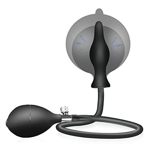Enlove Deluxe Silikon Aufblasbarer Analplug mit Pumpe BDSM...